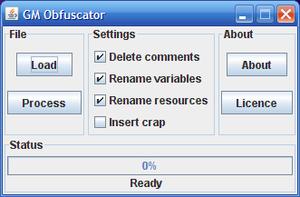 Obfuscator screenshot.