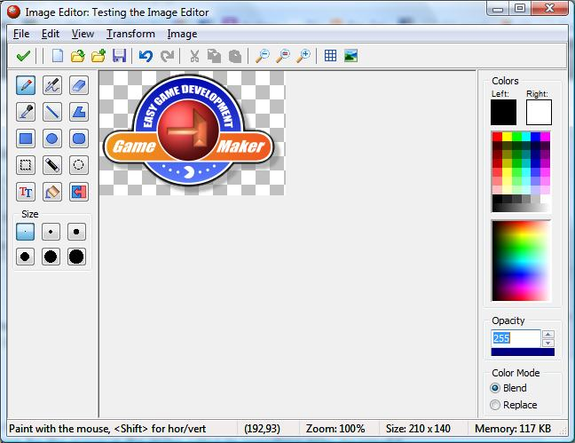 GameMaker 8: Image and Sprite editor version 0.9 |