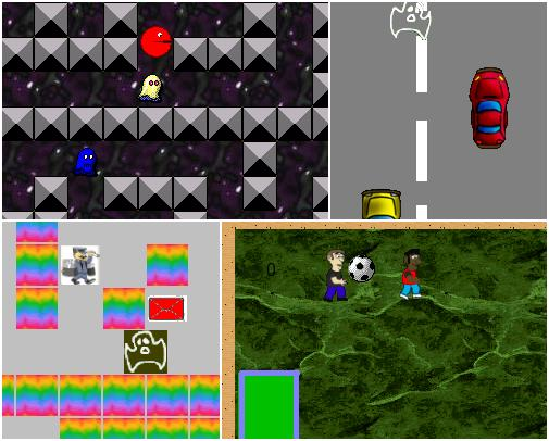 Some of the games created at the IMC Weekendschool in 2007 and 2009.