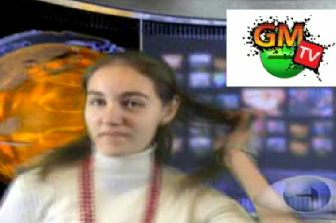 Tor playing with her hair whilst talking about GMTV on episode 1 of GMVision