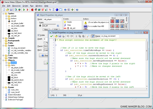 Game Maker 8 (beta 1) IDE