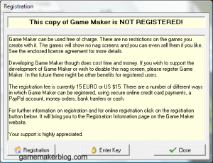 game maker 5 nag screen 300x230 Ten Years of Game Maker 1999 2009