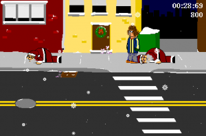 ksitn1 300x199 Game Review   Kick Santa In The Nuts (Krakko)
