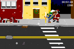 ksitn2 300x199 Game Review   Kick Santa In The Nuts (Krakko)
