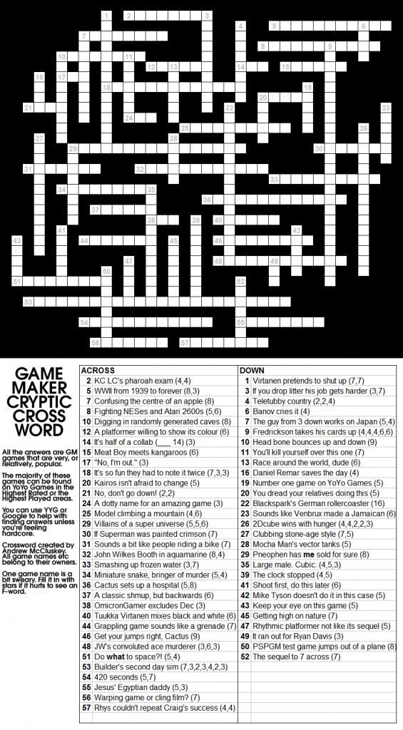 GMCrypticCrossword 565x1024 Game Maker Cryptic Crossword