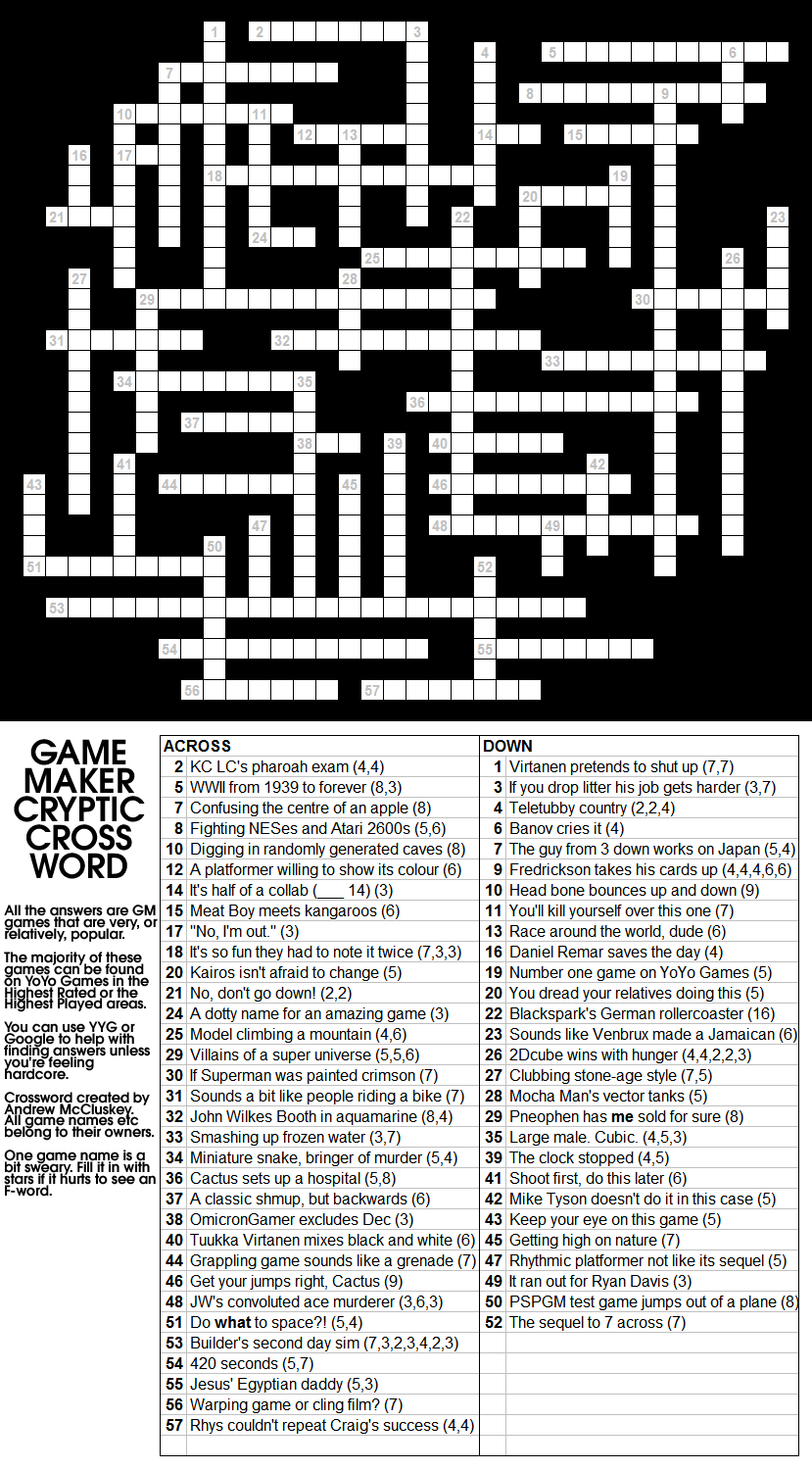 Maker Cryptic Crossword