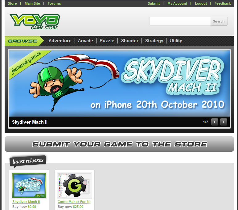 YoYo Games App Store Renames, Game submission nearly open |