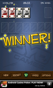 Simply Solitaire Winner - I didn't win the first time!