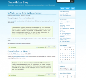 Game Maker Blog 2008