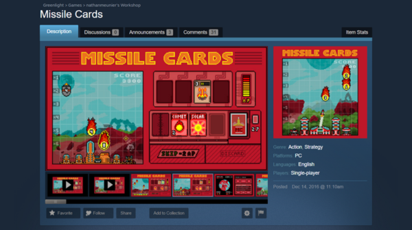 missile cards on steam