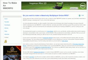 How to Make An MMORPG Homepage